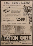 1968 Dodge Charger Bengal Edition Newspaper Ad
