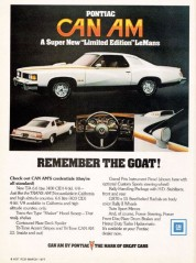 "1977 Pontiac LeMans Can Am ""Remember the Goat"" Ad"