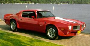 1972 Red Pontiac Trans Am