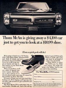 Thom McAn 1967 GTO Ad