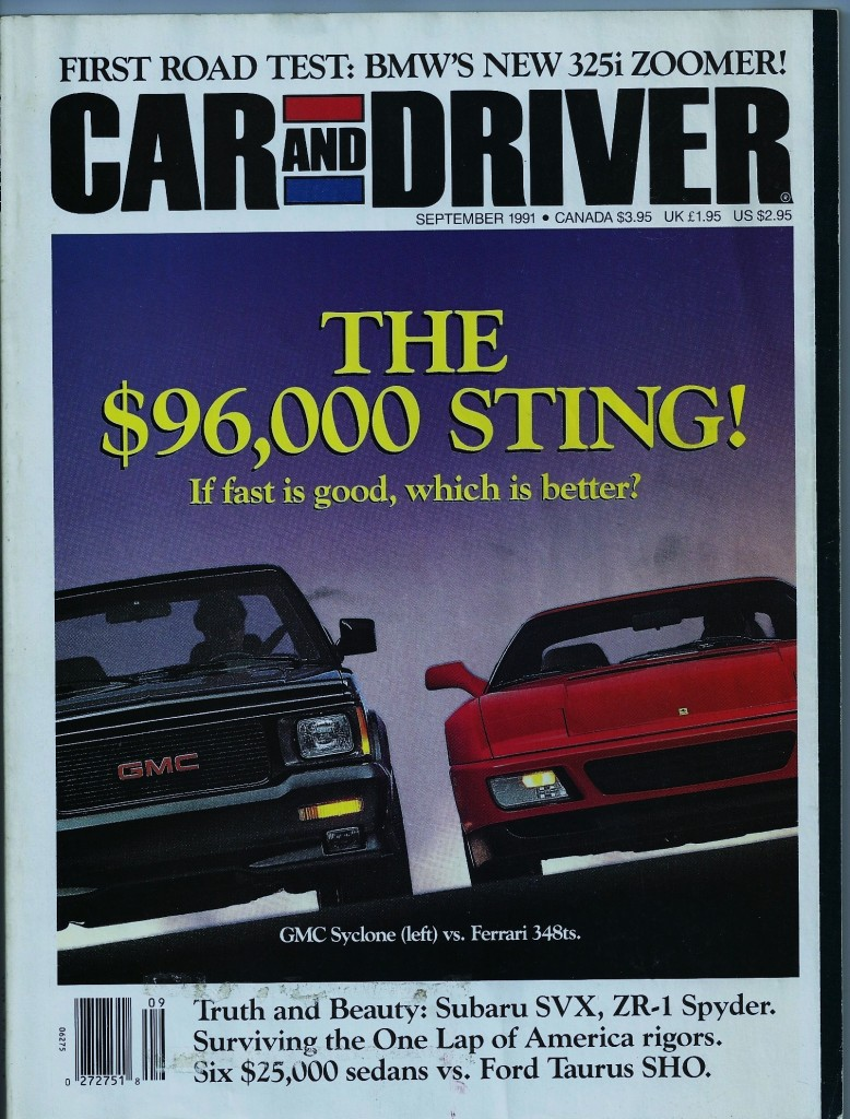 Car And Driver September 1991 Tommy S Car Blog