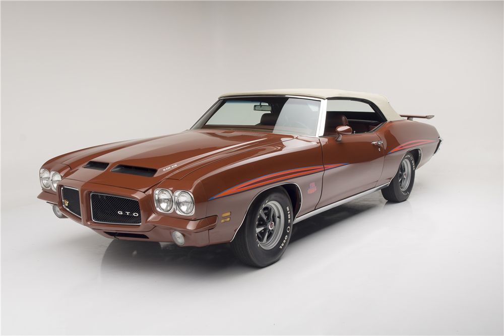 Beautiful 1971 Pontiac GTO Judge Convertible Barrett Jackson