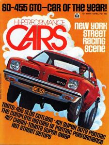 High Performance Cars 1973 GTO Cover
