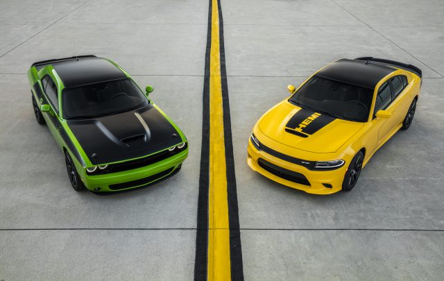 2017 Dodge Challenger T/A (left) and 2017 Dodge Charger Daytona (right)